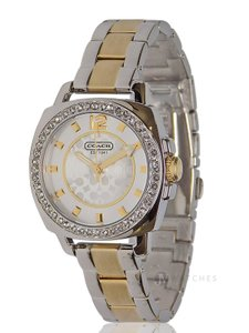 Coach NWT WOMENS COACH (14501702) MINI BOYFRIEND TWO TONE GOLD SILVER WATCH