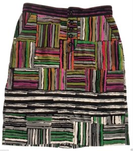 Anthropologie Pencil Odille Straight Color Spectrum Skirt Multi