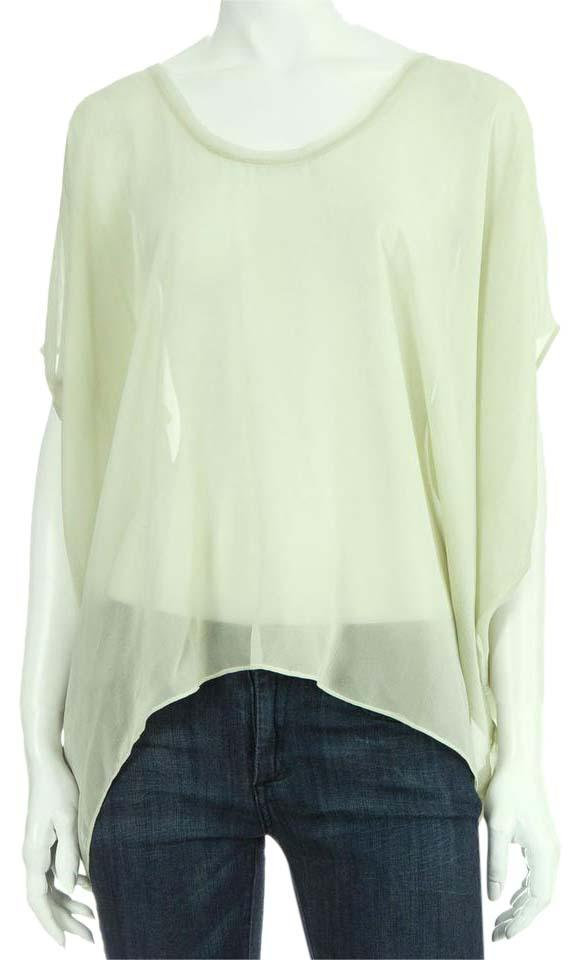 21695bdb0570d1 Helmut Lang Green Wing Silk In Light Blouse Size 0 (XS) - Tradesy