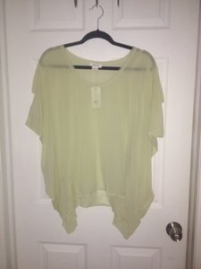 Helmut Lang Silk Wing Top Green