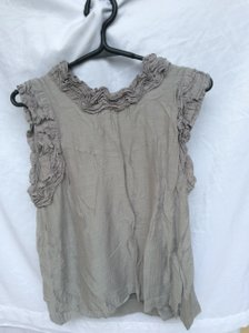 French Connection Frilled Trim Top Gray