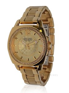Coach NWT WOMENS COACH (14501700) MINI BOYFRIEND GOLD GLITZ WATCH