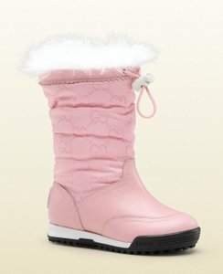 """Gucci Pink W """"Snow Flake"""" Boot W/Fur G 24/ Us 8 271779 Shoes"""