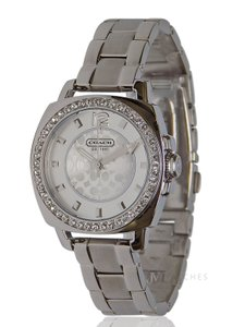 Coach NWT WOMENS COACH (14501699) MINI BOYFRIEND SILVER GLITZ WATCH
