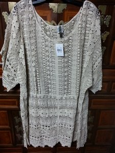 XCVI Crochet Bohemian Scalloped Tunic