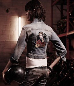 R13 Trucker Denim David Bowie Womens Jean Jacket