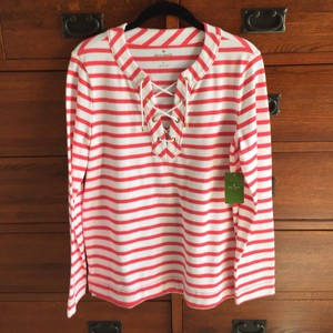 Kate Spade Top Geranium/Fresh White