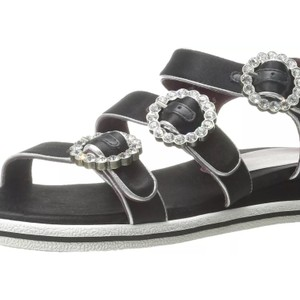 Marc by Marc Jacobs Black with crystal buckles Sandals