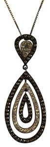 Lord & Taylor Marcasite Sterling Silver Pendant and Necklace with Swarovski Elements