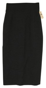 Brooks Brothers Black Fleece 100% Wool High Waisted Fall Thom Browne Skirt Navy