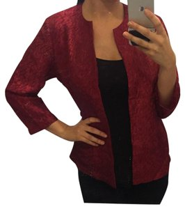 Chico's Maroon Office deep red Blazer