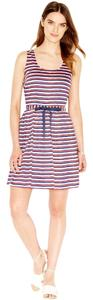 striped A-line Dress Dress