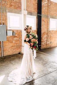 Claire Pettibone Gardenia Vintage Lace Wedding Dress