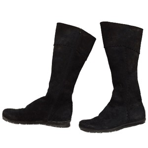 Arche Suede Knee-high Black Boots