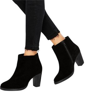 Old Navy Bootie Boot Ankle Suede Black Boots