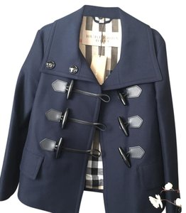 Burberry Craysmoore Gabardine Toggle Pea Coat
