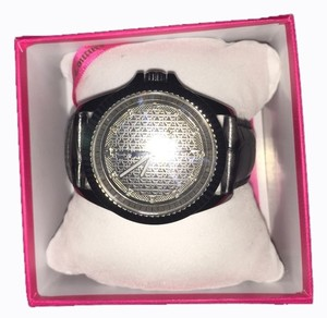 Juicy Couture Black Leather Beau Watch
