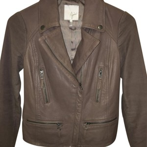 Joie Grey Taupe Leather Jacket