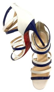 Christian Louboutin Patent Leather Blue and White Sandals