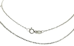 14K White Gold Diamond Cut Beads Chain 16 Inches ~1.00mm