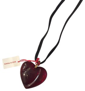 Baccarat Baccarat Glass Heart Necklace