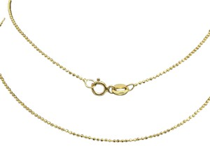 Other 14K Yellow Gold Diamond Cut Bead Chain 18 inches ~1.00mm