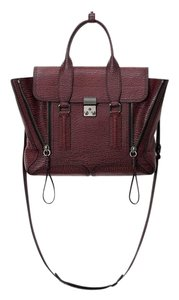 3.1 Phillip Lim Pashli Pashli Medium Satchel in Black-Maroon