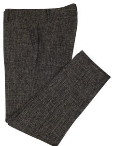 Ann Taylor Capri/Cropped Pants Black Tweed