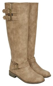 JustFab Bootie Boot Tall Brown Boots