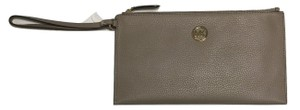 Michael Kors Lg Zip Clutch Jet Set Item Pearl Grey Fulton Wristlet in DK Taupe