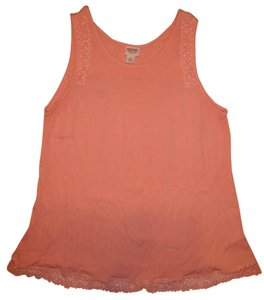 Mossimo Supply Co. Crinkled Wrinkle Boho Xxl Top Coral, Peach
