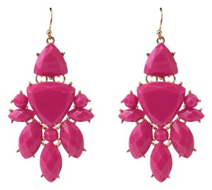 Other Magenta & Gold Chandelier Earrings
