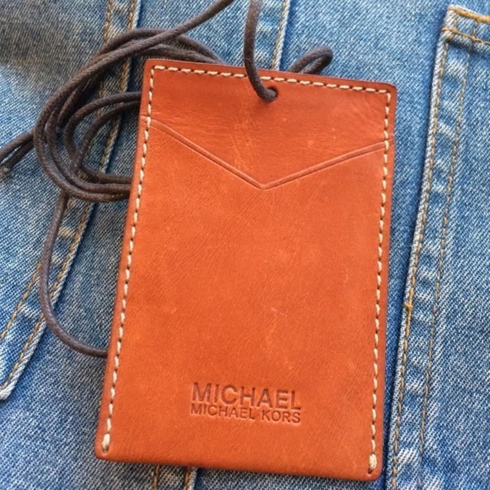 Michael Kors Business Card Holder With Lanyard