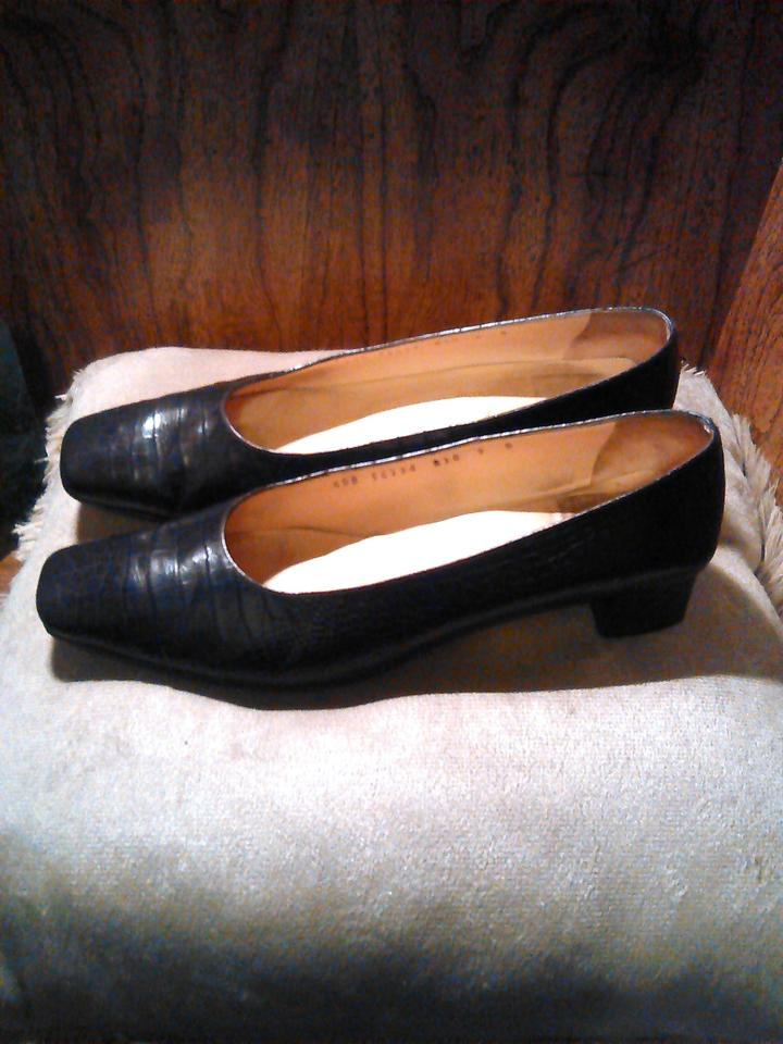 Flats Boutique Ferragamo Crocodile Salvatore Print Black CgXPHwqnB