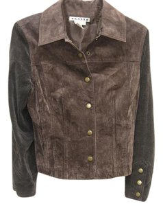 AMI Brown Leather Jacket