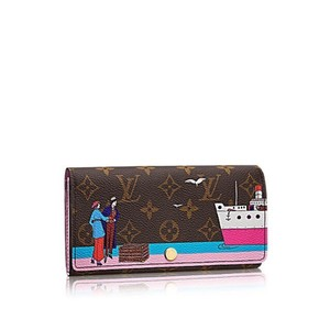 Louis Vuitton Transatlantic Christmas Animation 2016 Ltd Edition SOLD OUT Pink Sarah Wallet
