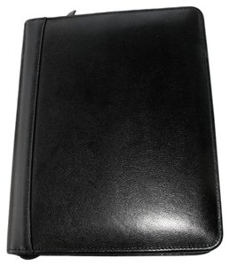 Franklin Covey Classic Top Grain Leather Planner Zip around Binder Her P.O.V.