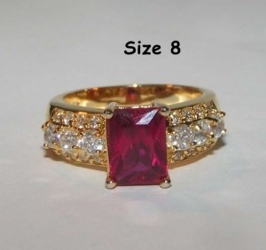 Ruby Red Fashion Ring Free Shipping