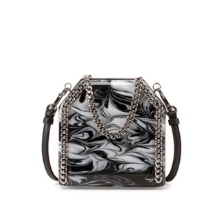 Stella McCartney Marble Clutch Plexiglass Black And White Shoulder Bag