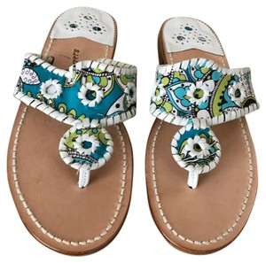 Jack Rogers Size 9 Turquoise multi-color Flats