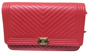 Chanel Red Clutch