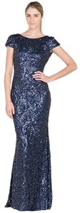 Badgley Mischka Gown Sequin Cowl Dress
