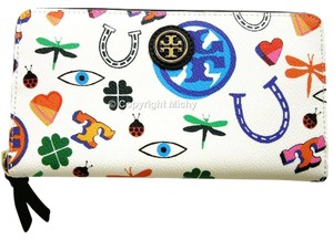 Tory Burch Tory Burch Kerrington Zip Continental Wallet Good Luck Symbols Multi