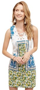 Anthropologie short dress Print Tybee Lace-up Shift on Tradesy
