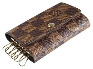 Louis Vuitton France Vintage Damier Key Holder Case 6 Rings