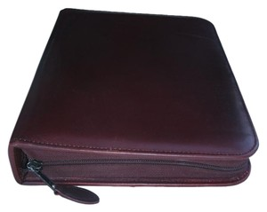 More Time Vintage Classic Leather Planner 3 Ring Binder Zip Around