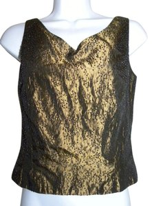 Ann Taylor Beaded Evening Top Bronze