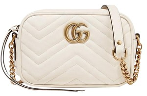 Gucci Marmont Gg Camera Mini Quilted Cross Body Bag
