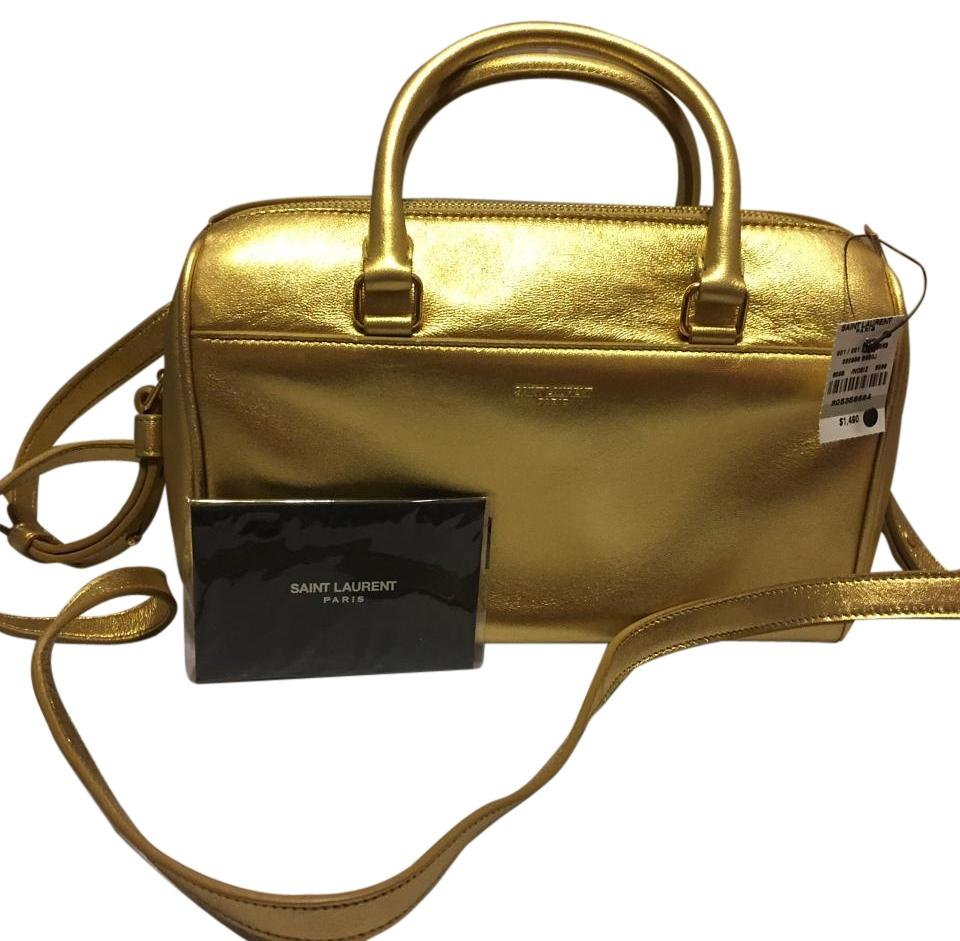 Saint Lau Duffle Ysl Metallic Mini Bag Crossbody Gold Leather Cross Body 26 Off Retail