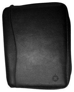 Franklin Covey SpaceMate Nappa Leather Compact Vintage Planner Binder Ziparound